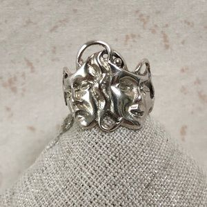 Sterling Silver Smile Now & Cry Later Ring Size 5